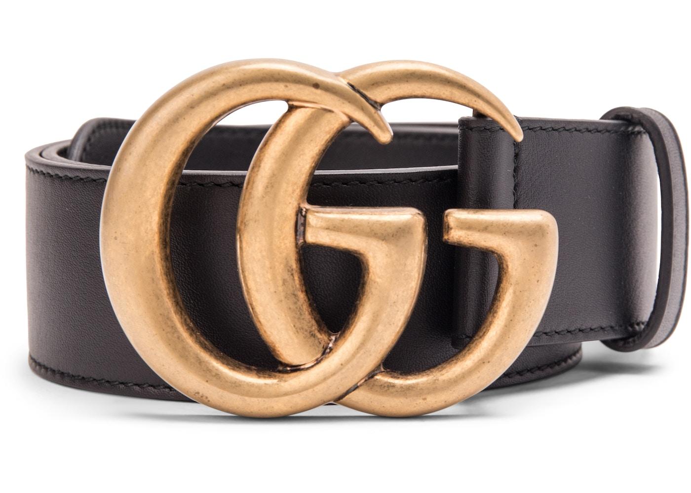 147973fb Gucci Double G Buckle Leather Belt 1.5 Width 70-28 Black