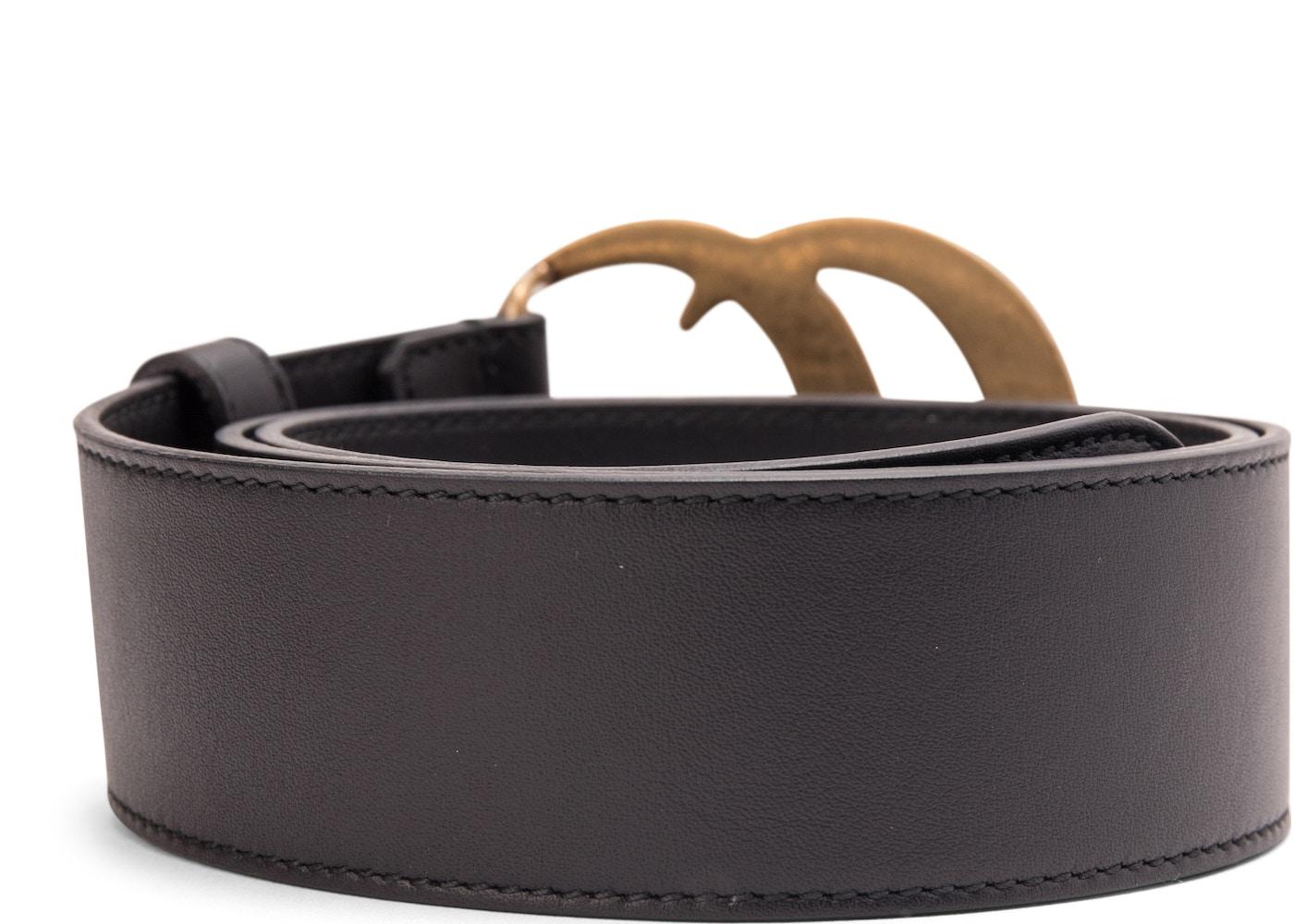 23a0bd5e1fc6a Gucci Double G Buckle Leather Belt 1.5 Width 70-28 Black