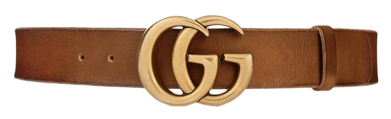 Gucci Double G Buckle Leather Belt 1.5 Width 70-28 Brown