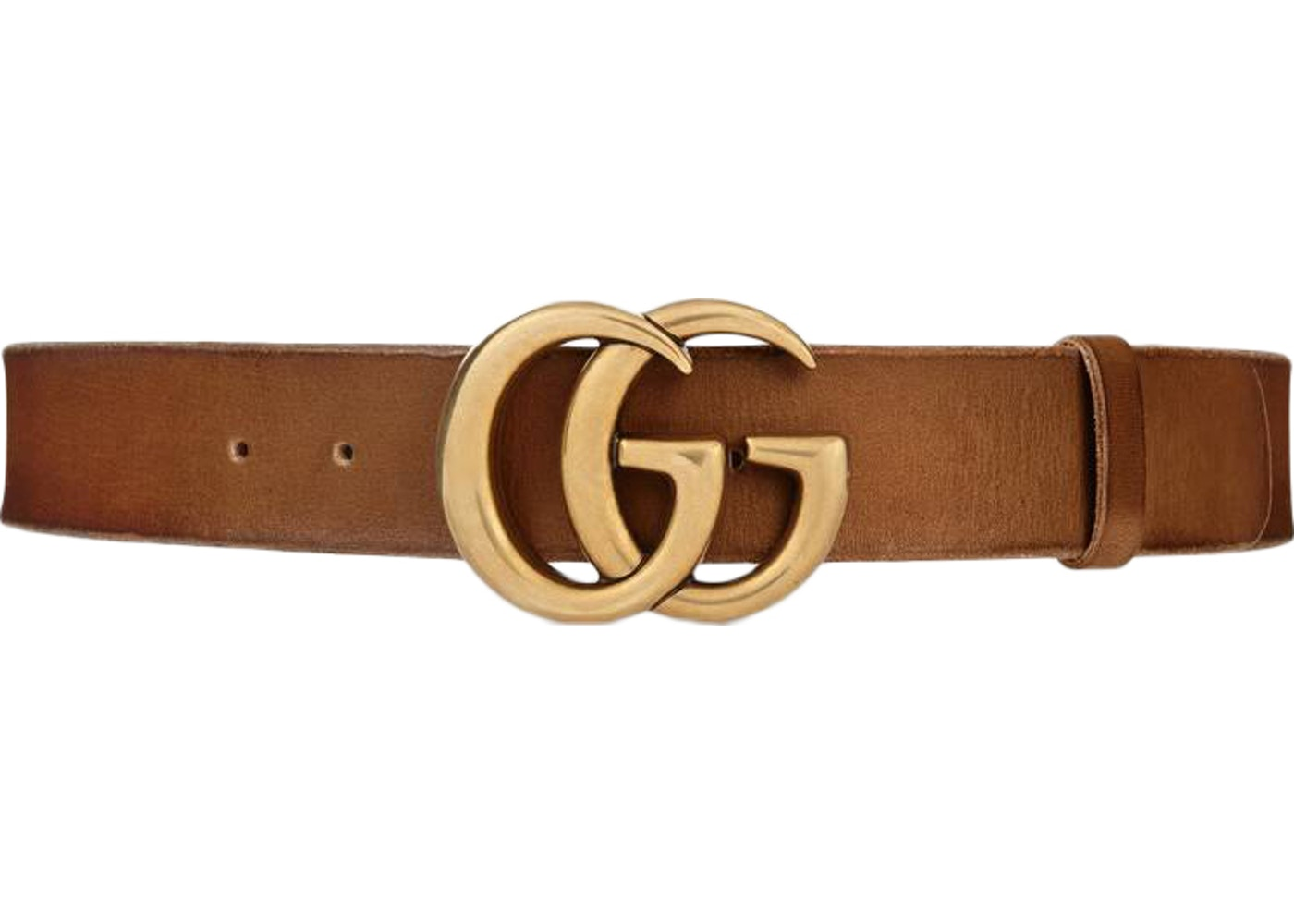 2c4b7447225 Gucci Double G Buckle Leather Belt 1.5 Width 70-28 Brown. 70-28 Brown