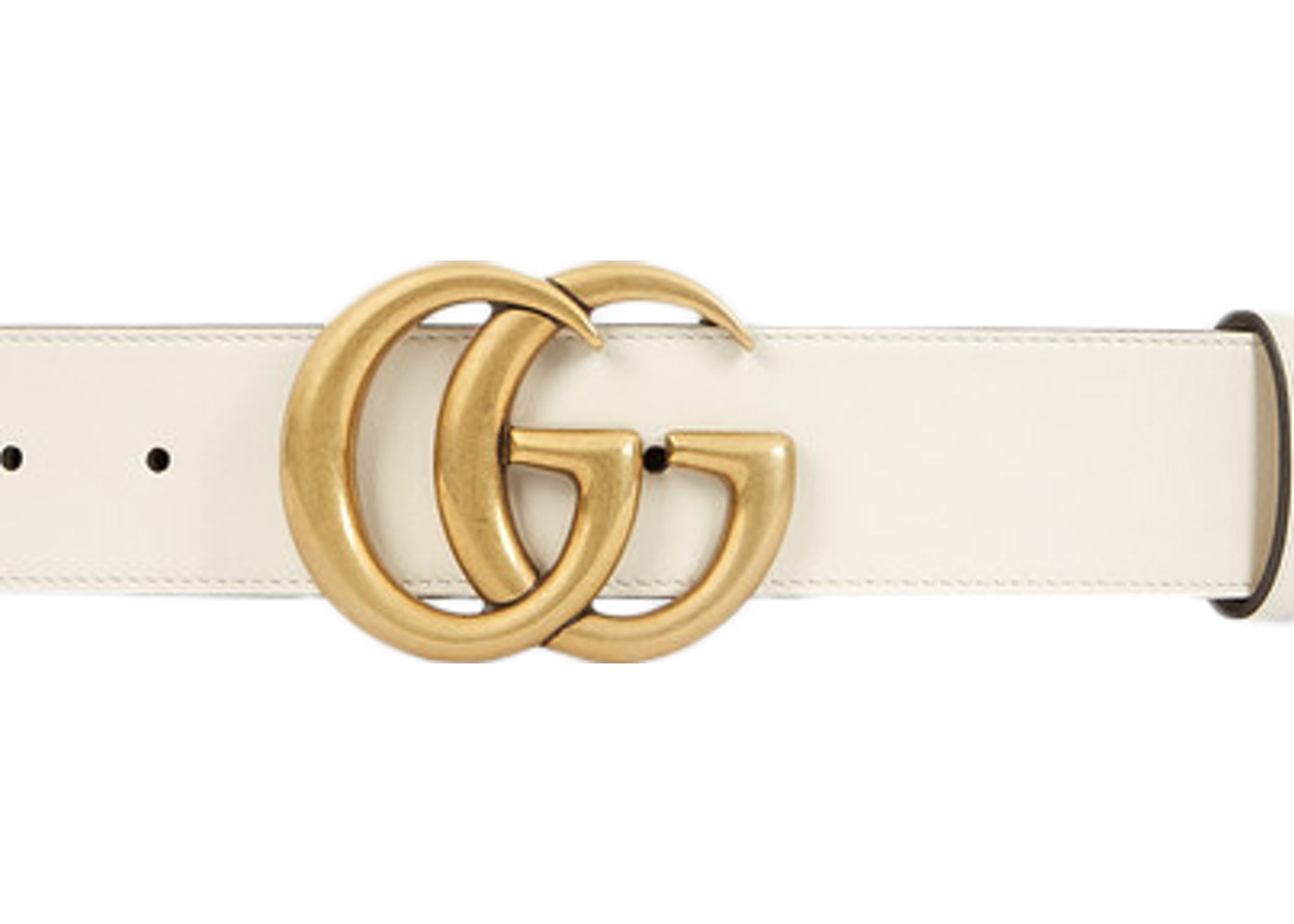 a937fa2c1bbef Gucci Double G Gold Buckle Leather Belt 1.5 Width White. 1.5 Width White