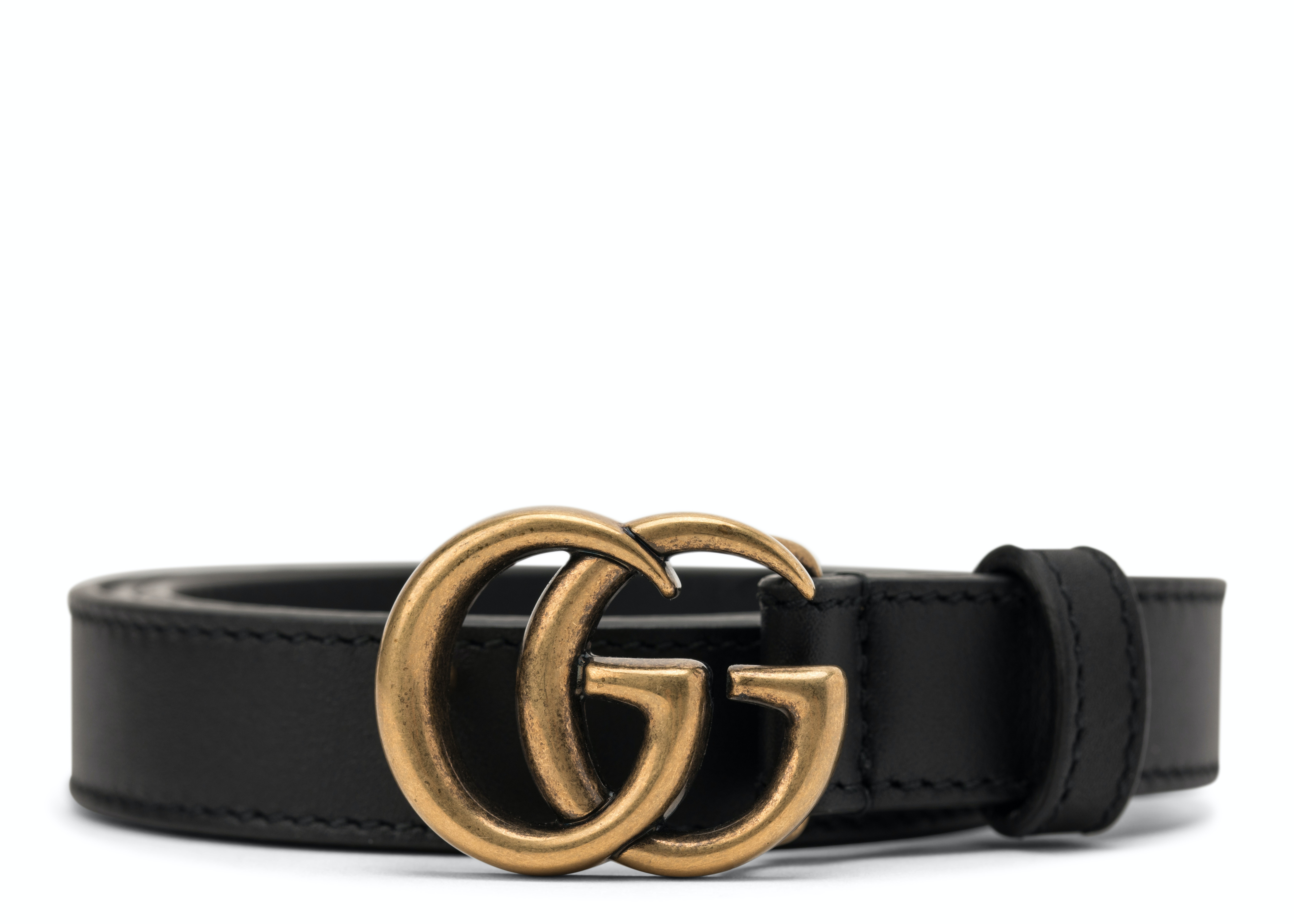 Gucci Double G Buckle Leather Belt 1.5 Width 80-32 Black