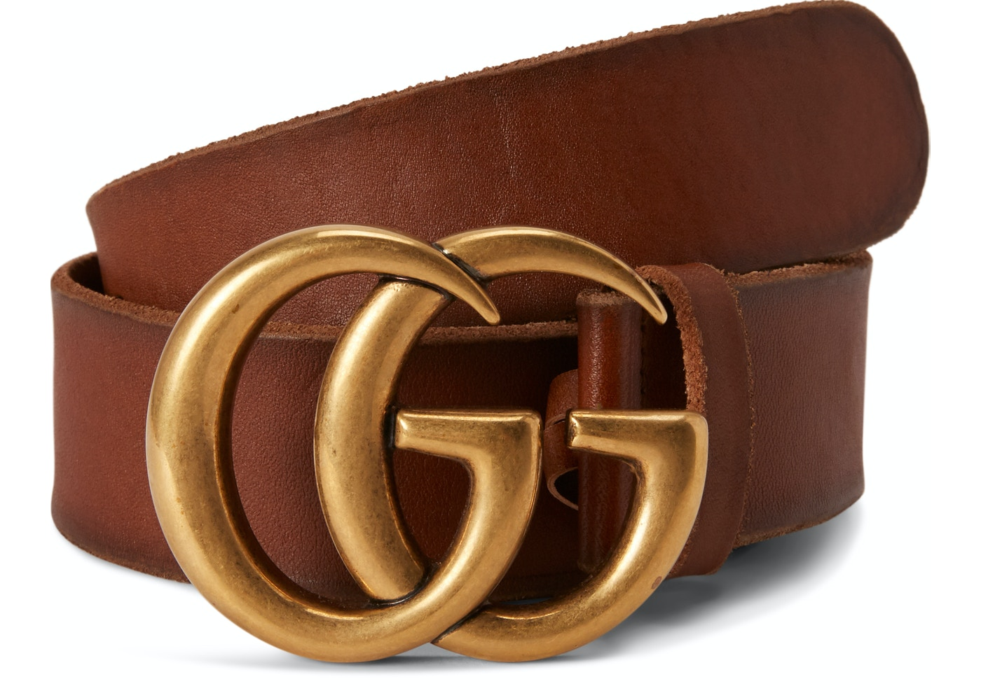 6ef19ef0934bd Gucci Double G Gold Buckle Leather Belt 1.5 Width Brown. 1.5 Width Brown
