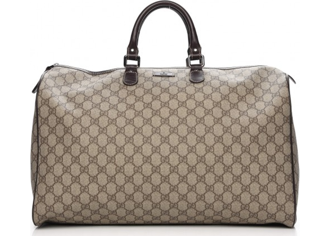 4131053dd71 Gucci Plus Duffle Monogram GG Large Dark Brown