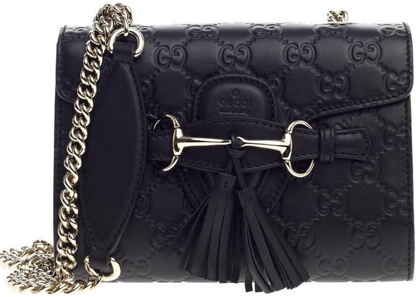 f979a29b1a882e Sell. or Ask. View All Bids. Gucci Emily Shoulder Guccissima Flap Mini Black