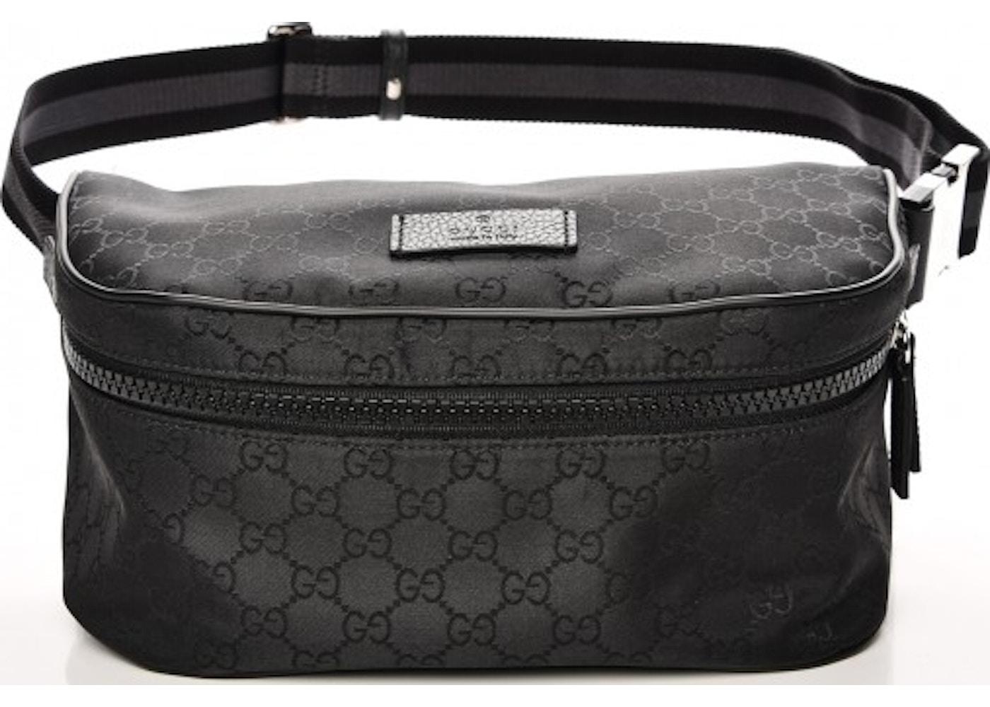 ebf23e4c05f Gucci Fanny Waist Bag Monogram GG Web Strap Black