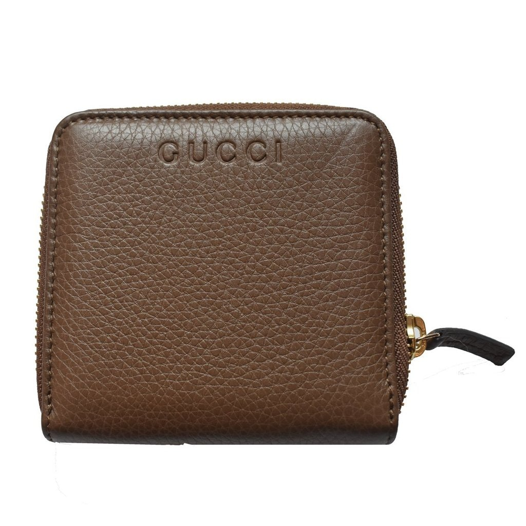 Gucci French Flap Zip Around Wallet Brown