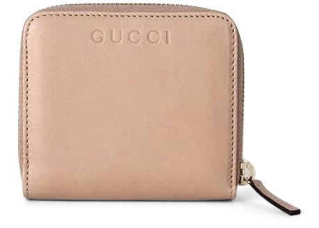 Gucci French Flap Zip Around Wallet Nude