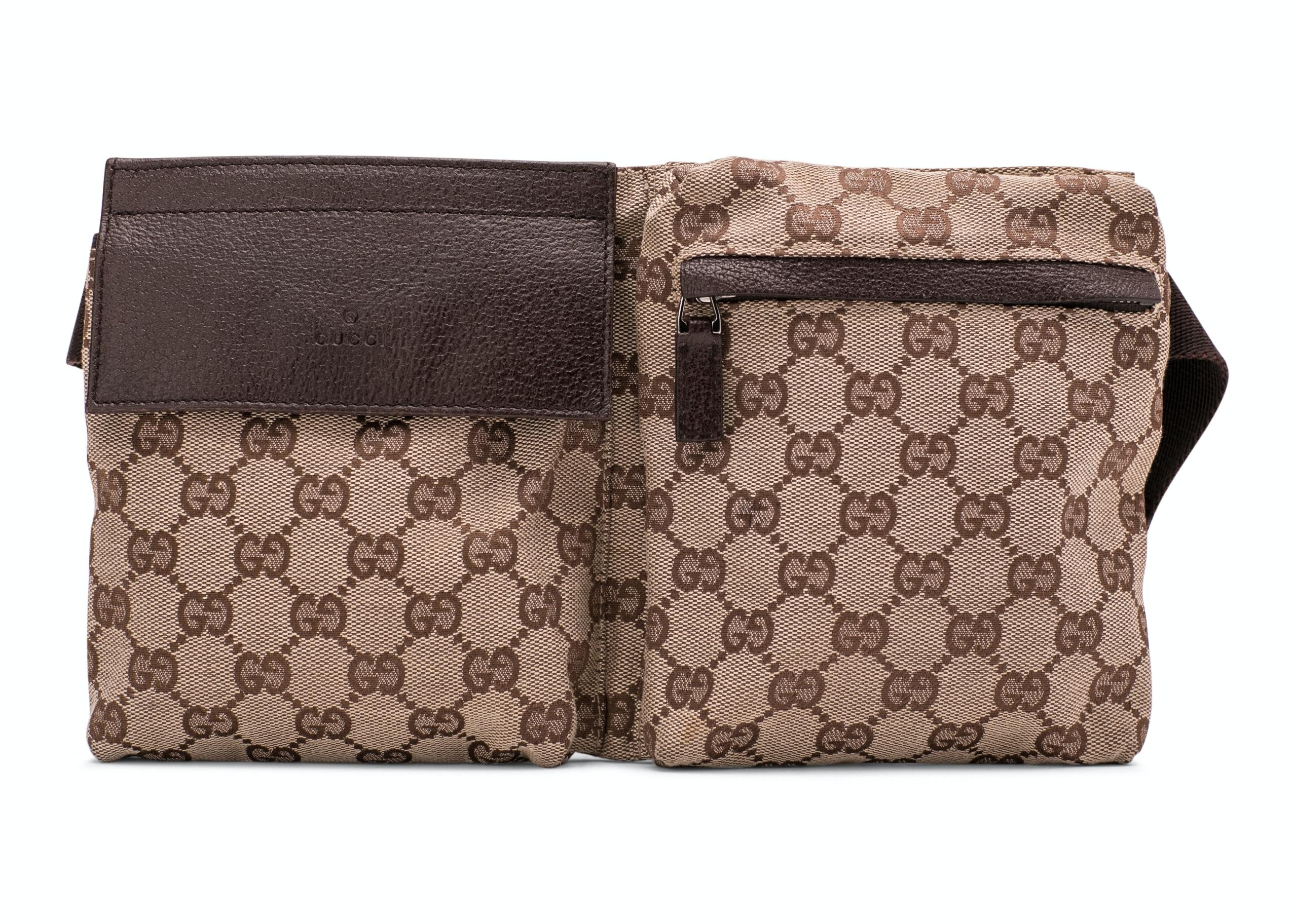 Gucci Waist Bag GG Canvas Brown