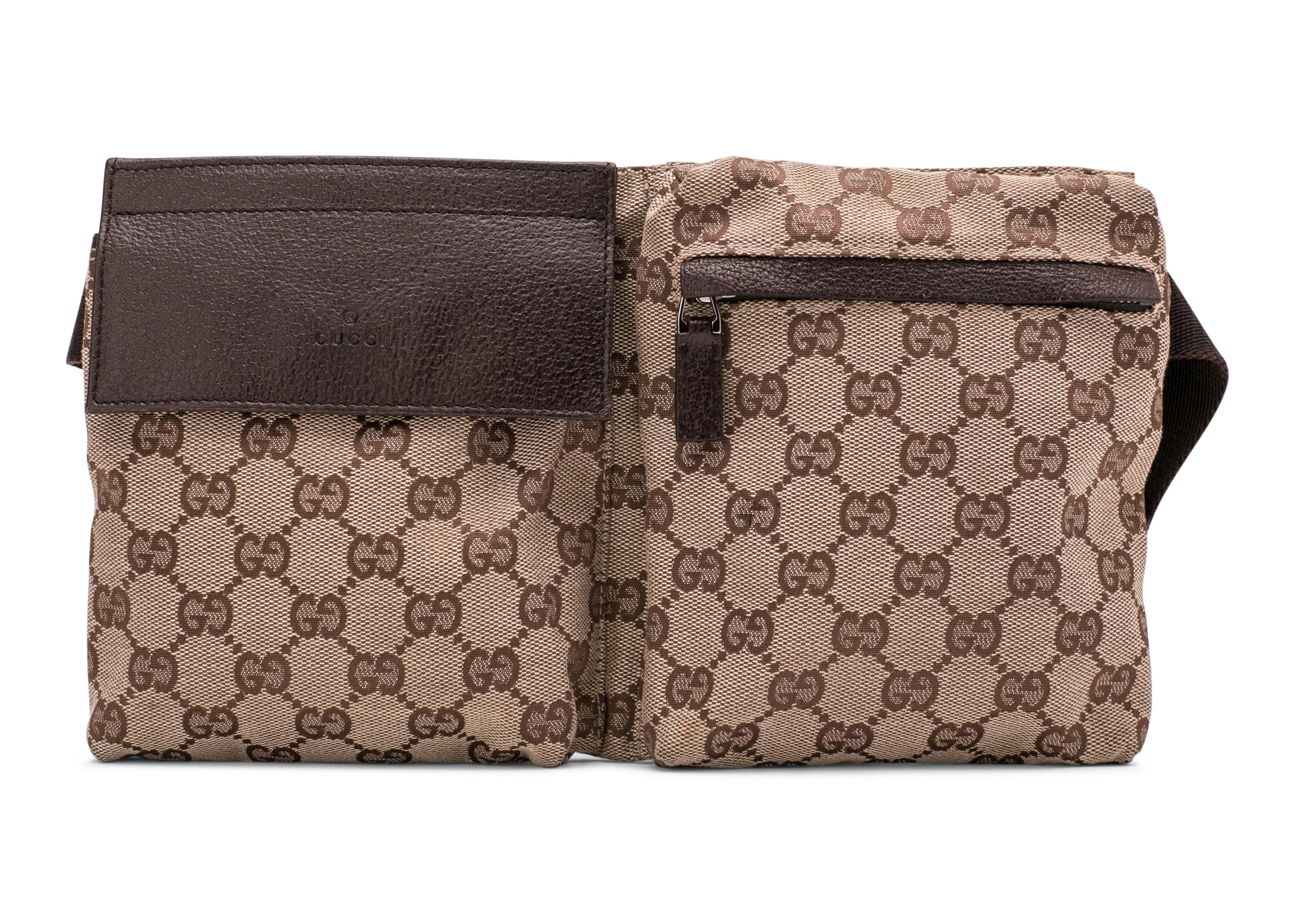Gucci Waist Bag GG Canvas Brown