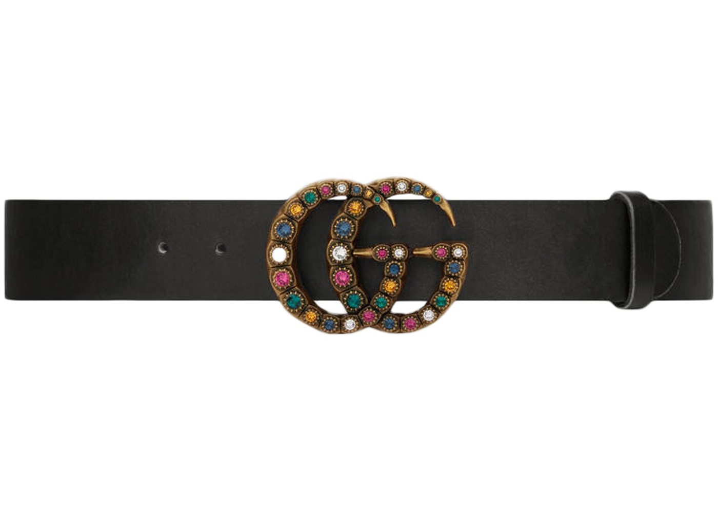 Gucci GG Crystal Belt 65-26 Black