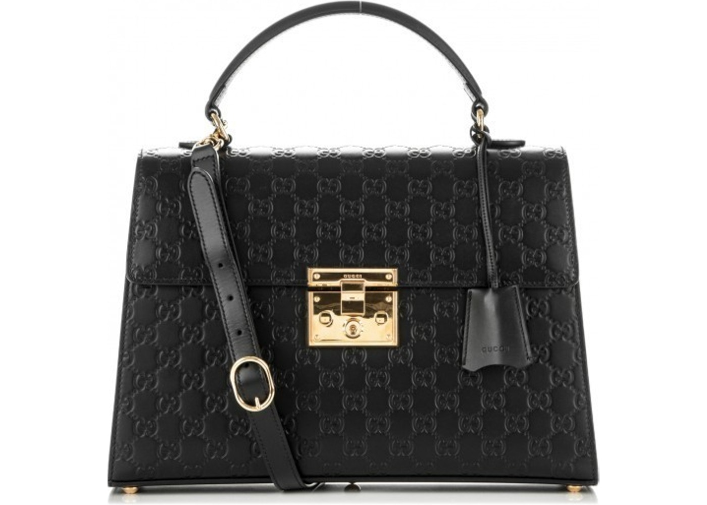 Sell. or Ask. View All Bids. Gucci Padlock Top Handle Guccissima Black 41c0e57c88bf9