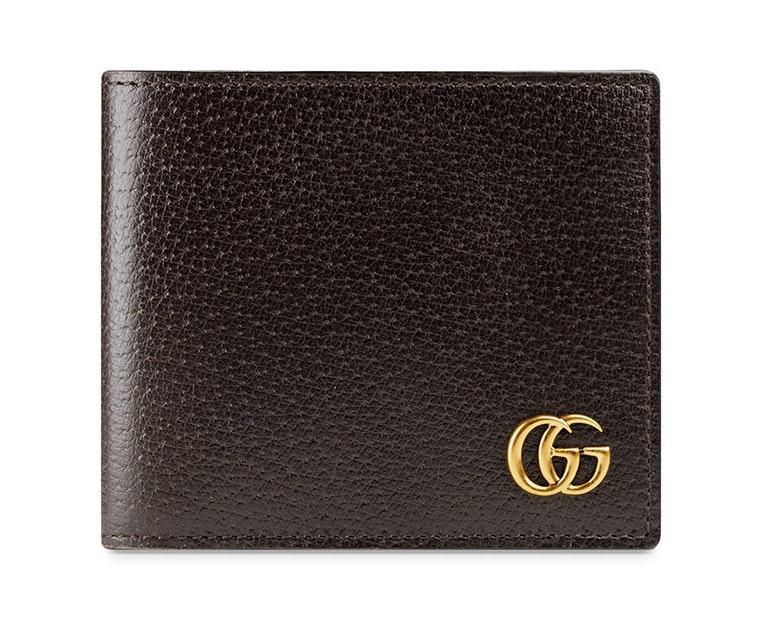 Gucci GG Marmont Bi-Fold Wallet Brown
