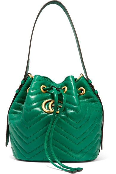 Gucci GG Marmont Bucket Green