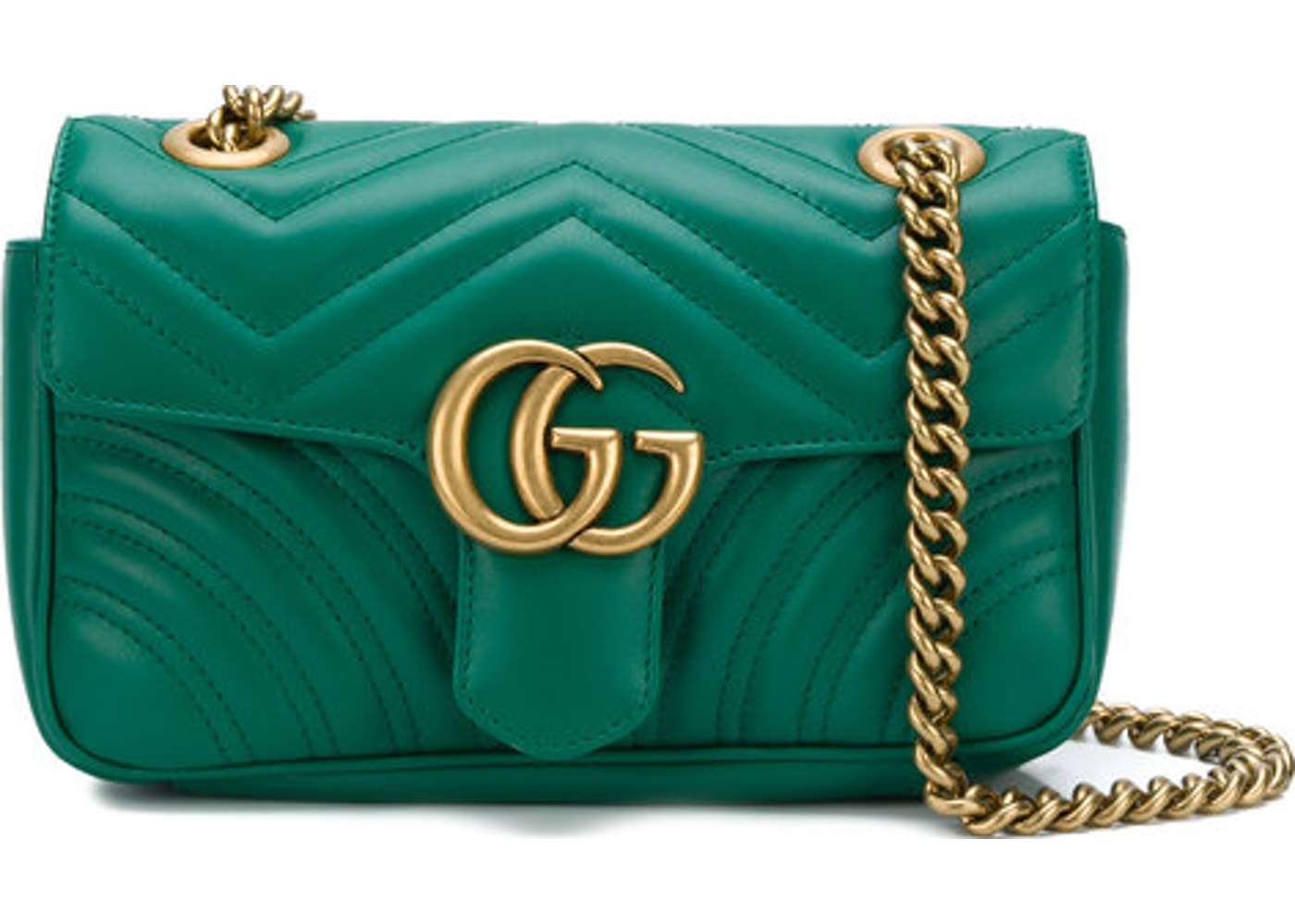 af75b4b93218 Gucci Marmont Shoulder Matelasse Mini Green. Matelasse Mini Green