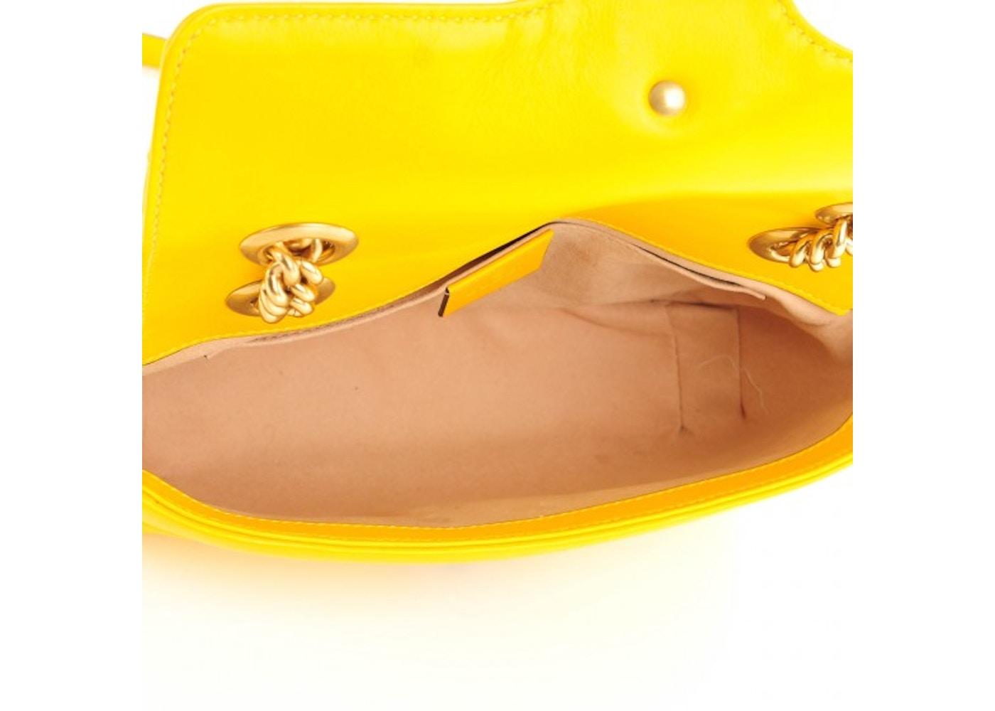 6b85a32fbe5c Gucci Marmont Shoulder Matelasse Mini Yellow