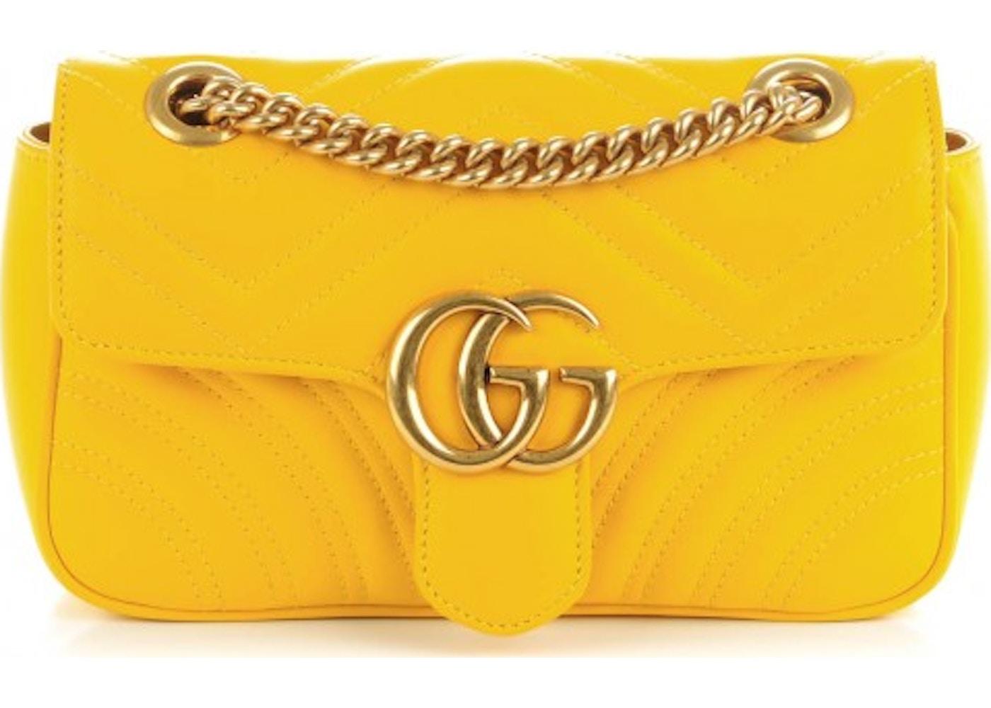 7576d83057fa Gucci Marmont Shoulder Matelasse Mini Yellow. Matelasse Mini Yellow