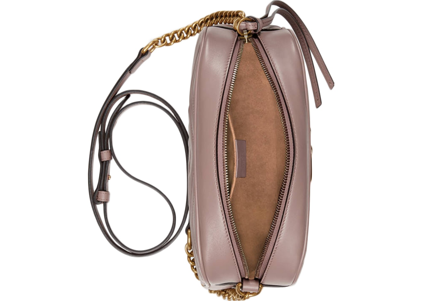 48bfc93b153c Gucci GG Marmont Shoulder Camera Small Nude