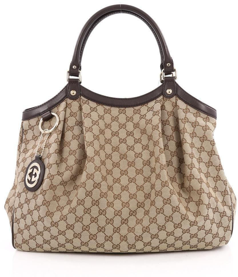 Gucci Sukey Tote GG Large Dark Brown