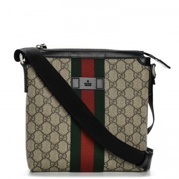 Gucci Messenger GG Supreme Monogram Web  Green/Red/Black