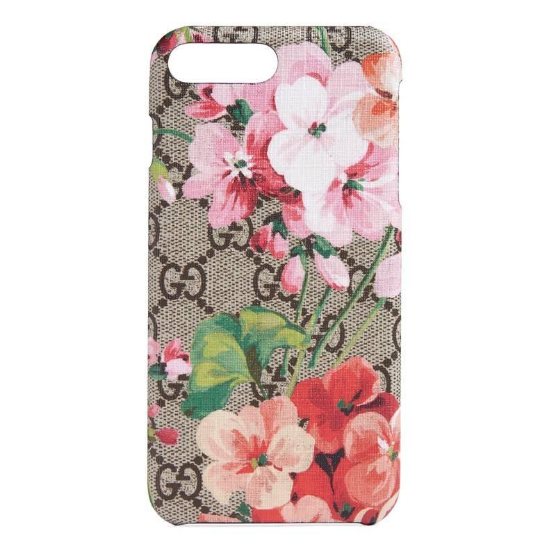 Gucci GG iPhone Case Blooms 8 Plus Beige/Ebony