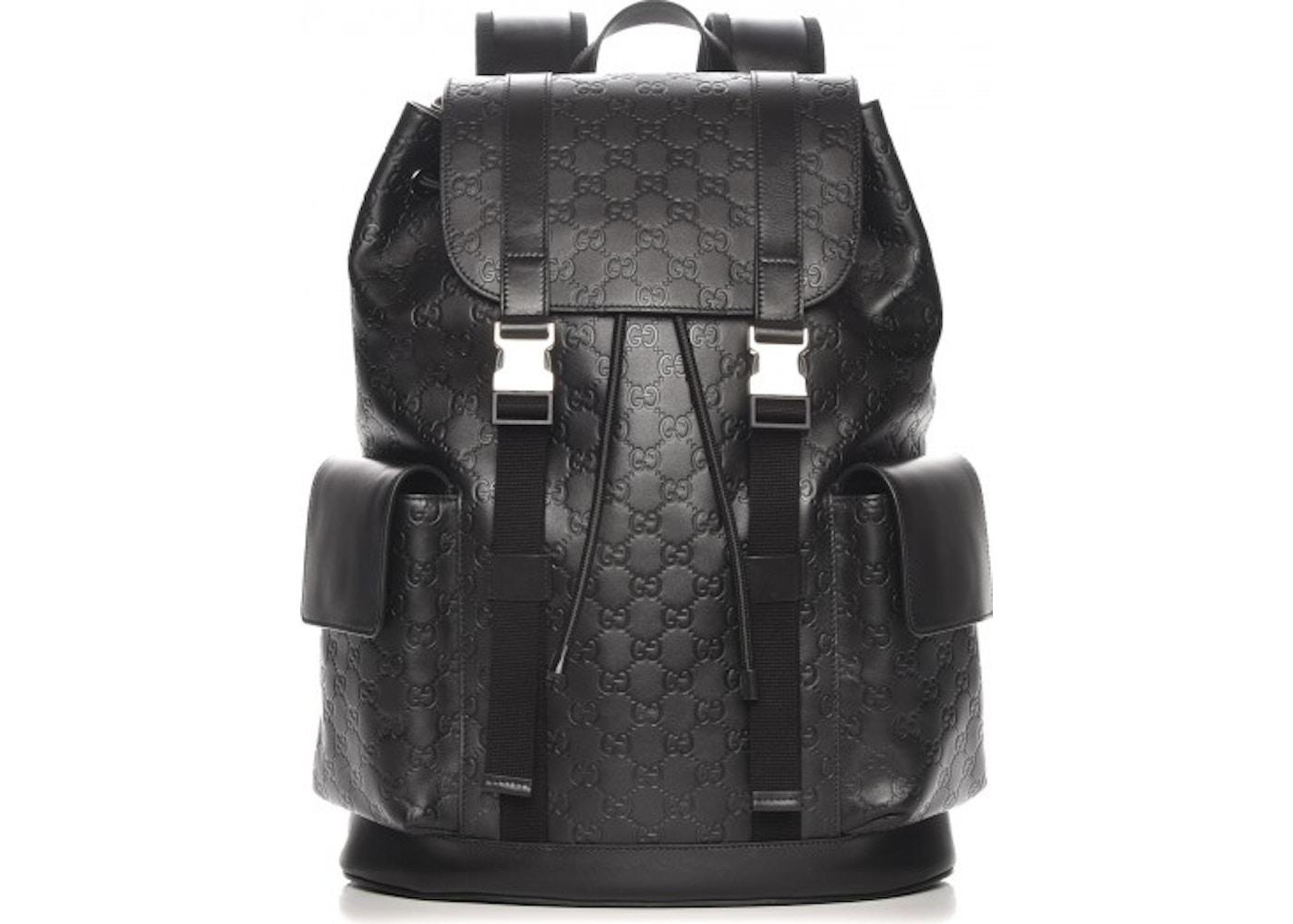 c9e4f11fbb0 Gucci Guccissima Signature Backpack GG Black. GG Black