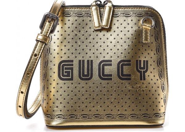 8520c1f08ba0 Gucci Guccy Top Zip Shoulder Bag Mini Gold