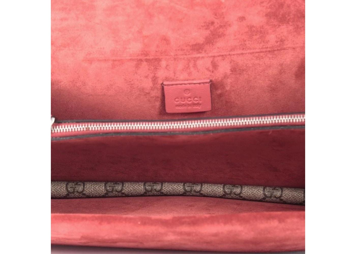 08bb6764591 Gucci Dionysus Handbag Monogram GG Small Taupe/Red