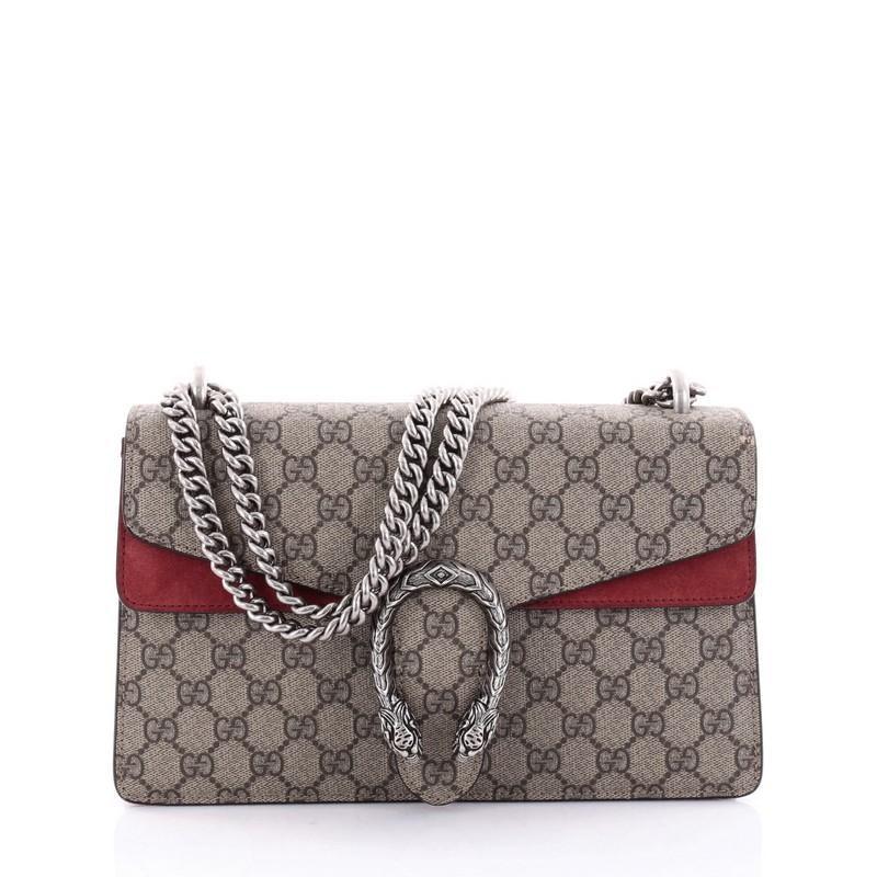 Gucci Dionysus Handbag Monogram GG Small Taupe/Red