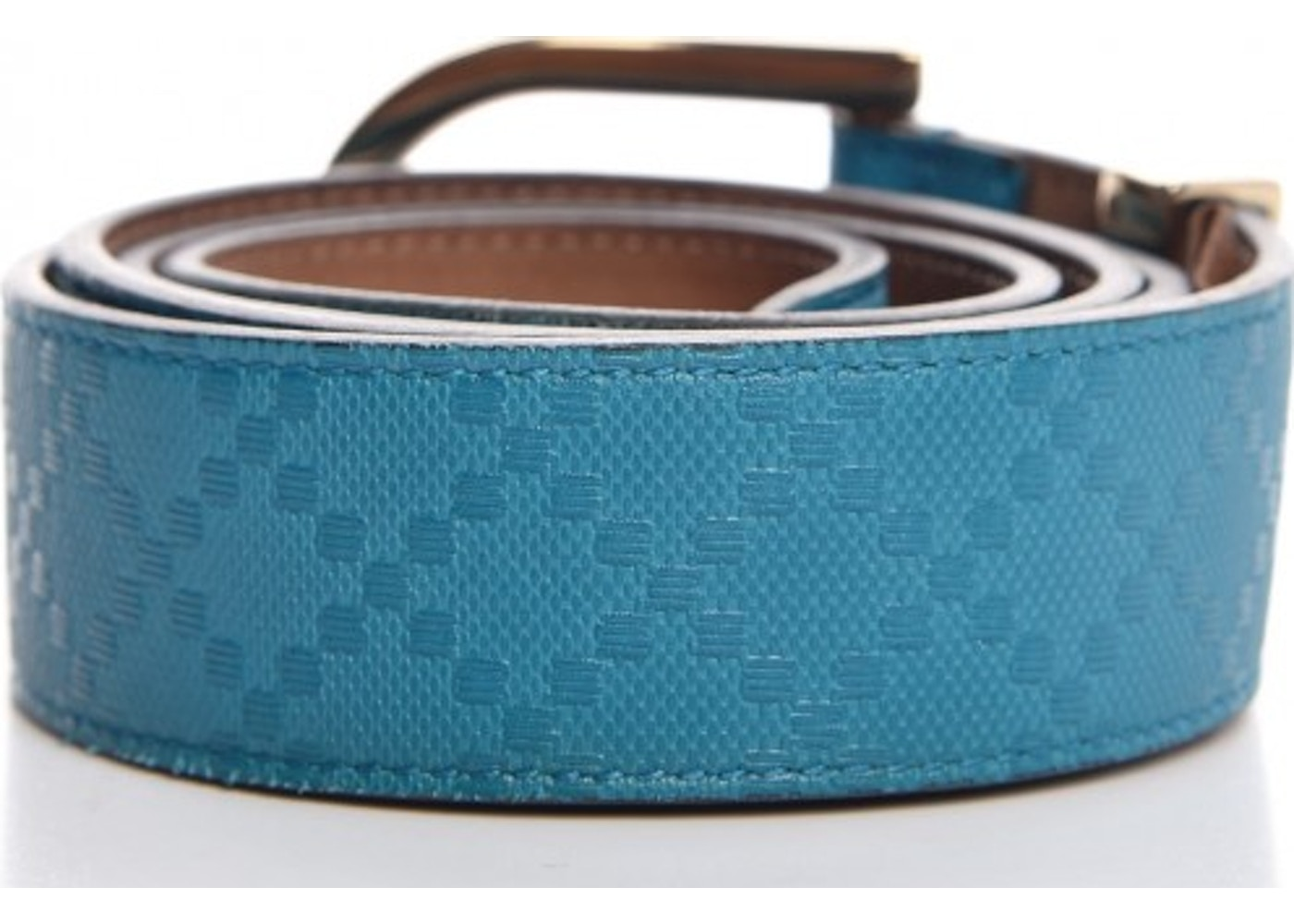 3284fb5fc4a Gucci Hilary Lux Belt Diamante Turquoise