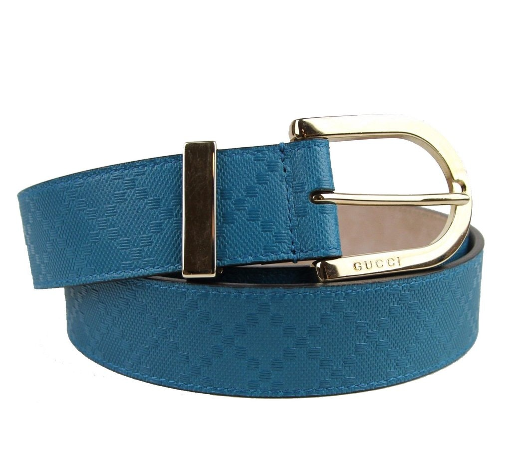 Gucci Hilary Lux Belt Diamante Turquoise