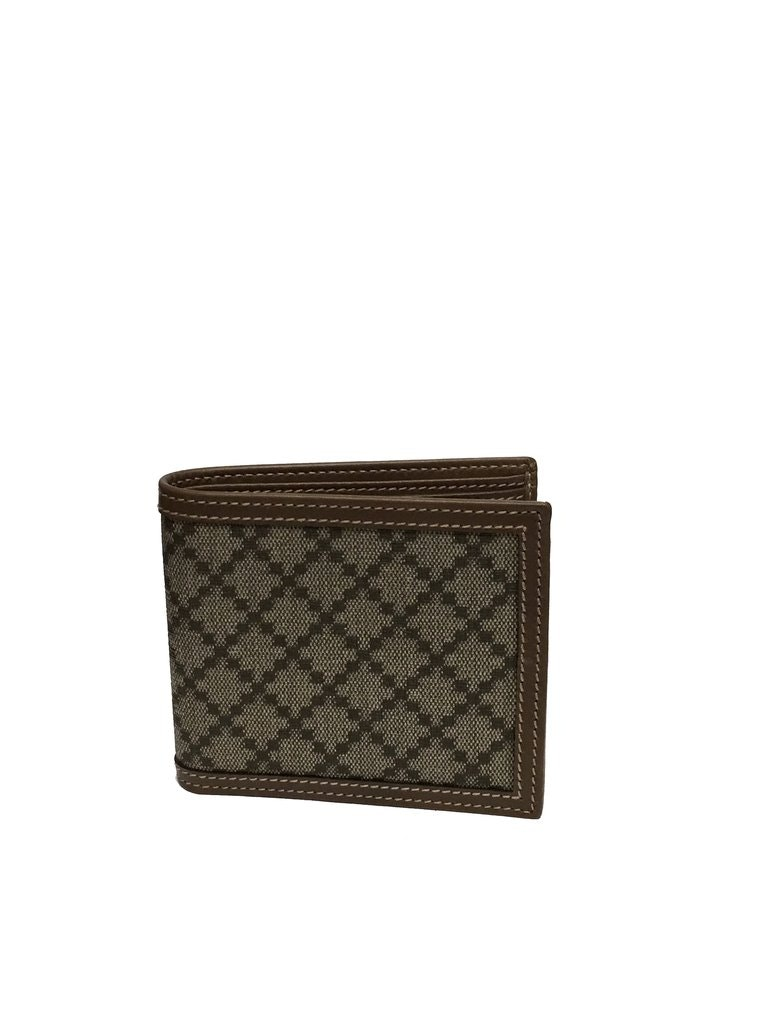 Gucci Hilary Lux Bifold Wallet Diamante Beige/Black
