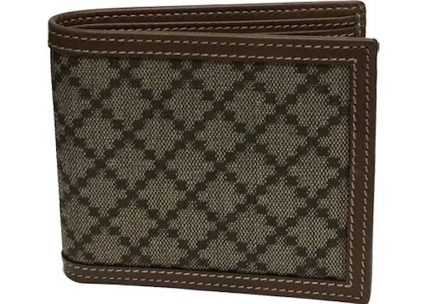 d8d85513f4b Gucci Hilary Lux Bifold Wallet Diamante Beige Black