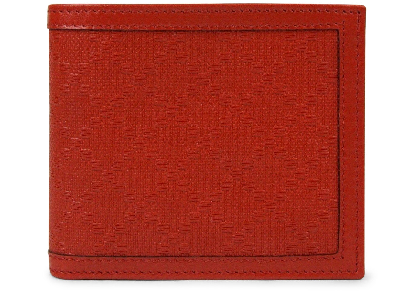 Gucci Hillary Lux Bifold Wallet Diamante Red