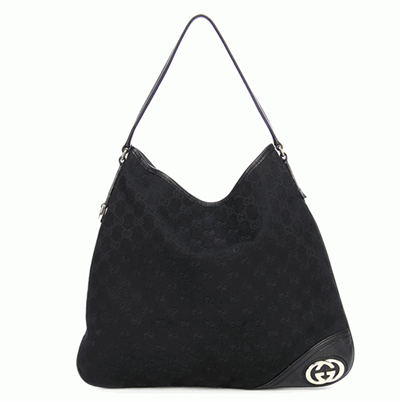 Gucci Britt Hobo Monogram GG Medium Black