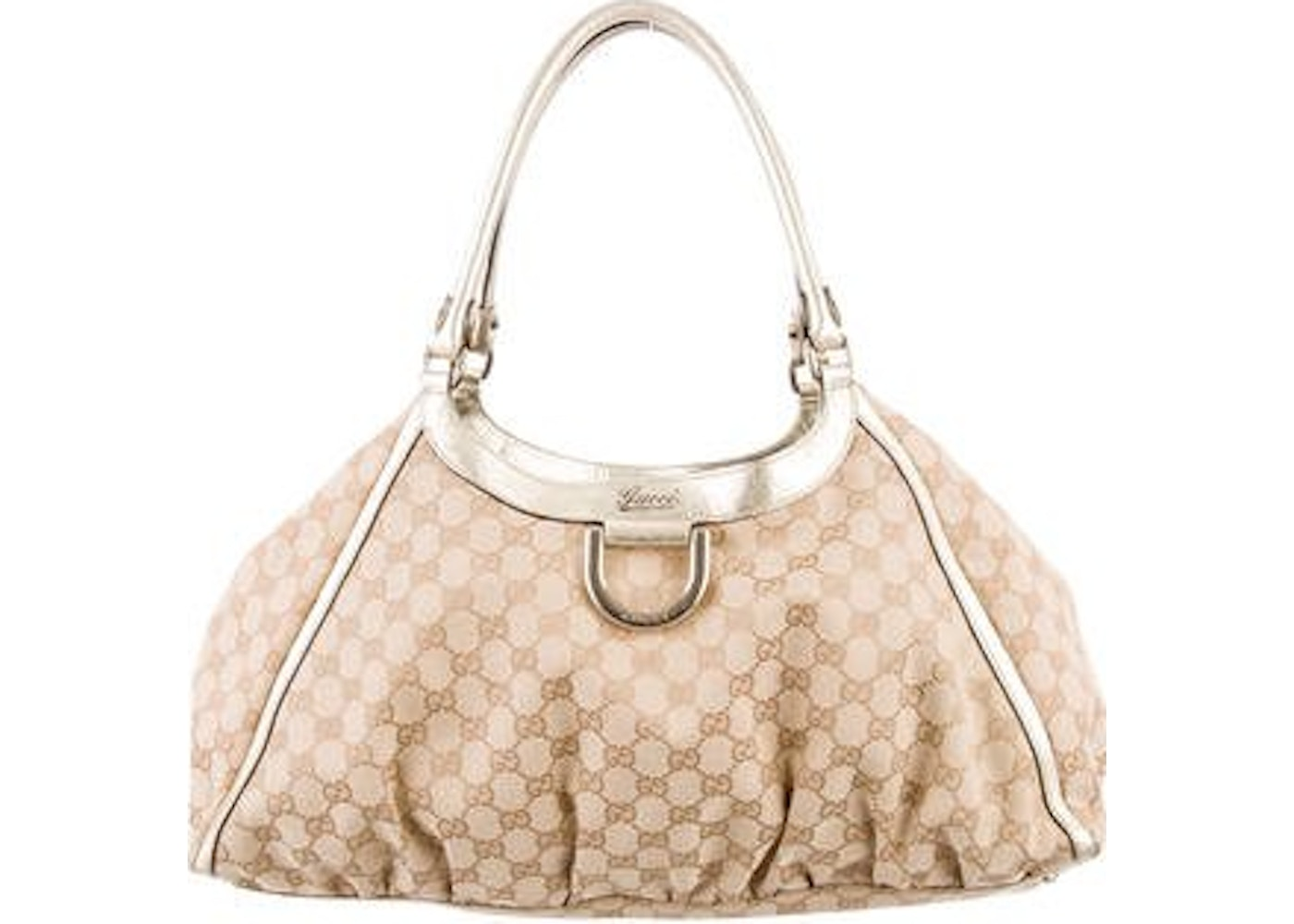 a804ed747 Gucci D Ring Hobo GG Monogram Large Beige. GG Monogram Large Beige
