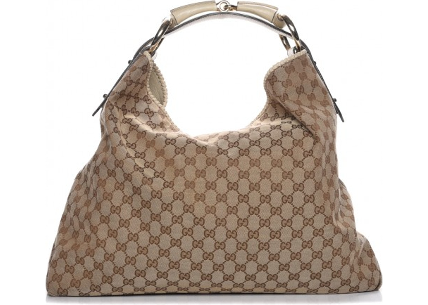 58f3892cea67ac Gucci Horsebit Hobo Monogram GG Large Brown/Beige. Monogram GG Large  Brown/Beige