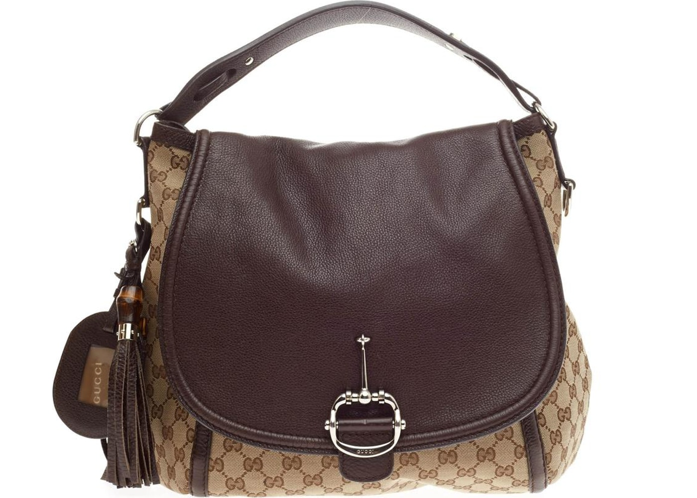 97100d3f74218f Gucci Techno Horsebit Hobo Large Brown. Large Brown