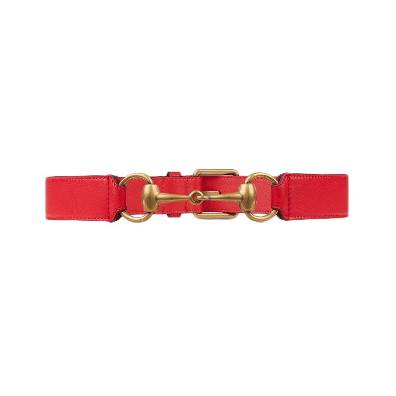 Gucci Horsebit Belt 75-30 Red