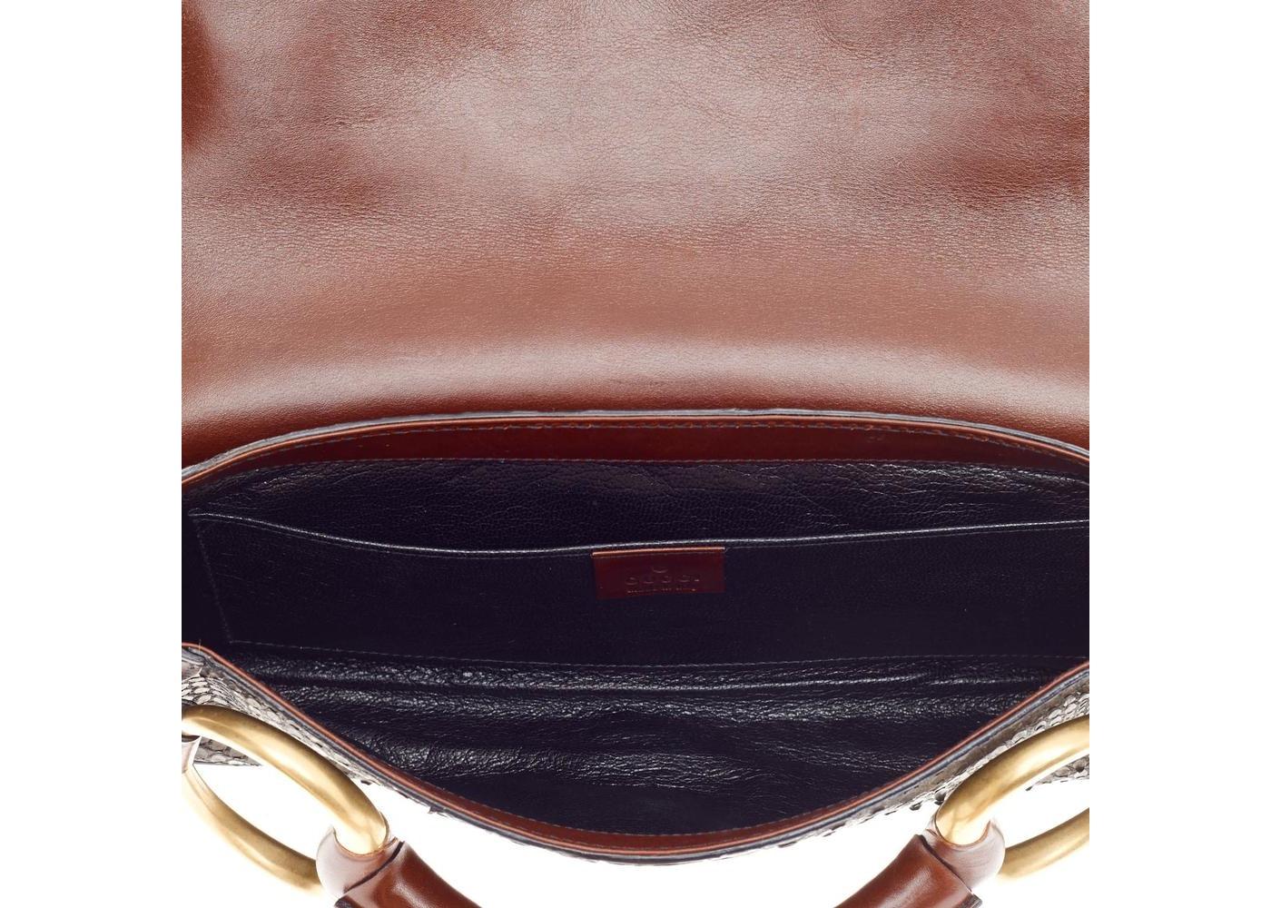 e56b18e027ee94 Gucci Horsebit Clutch GG Large Black/Wine Red