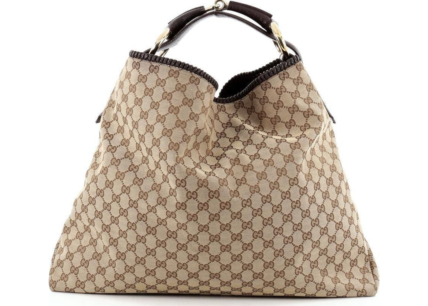 6325e3d22e4 Sell. or Ask. View All Bids. Gucci Horsebit Hobo GG Monogram Large Brown