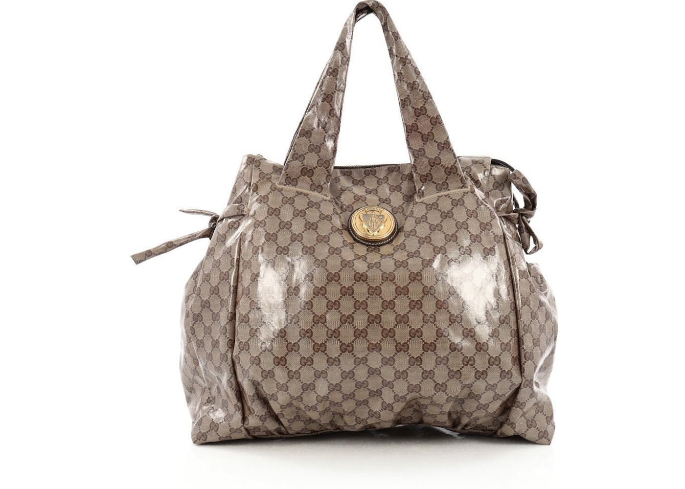 4aa35b85f585 Gucci Hysteria Tote GG Large Brown