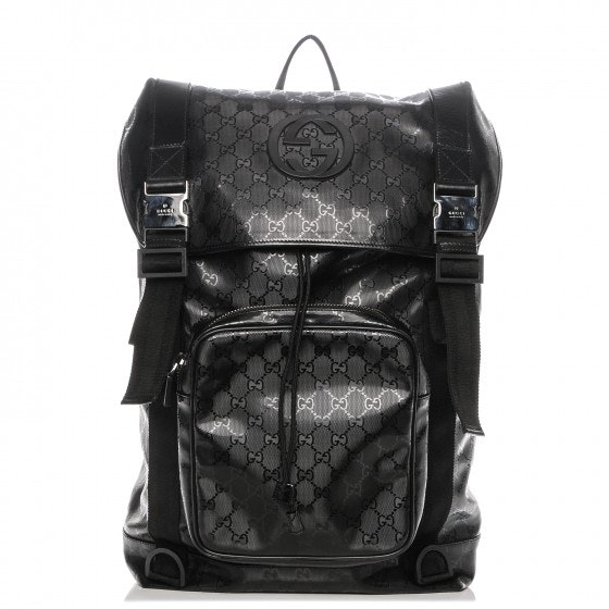 Gucci Interlocking G Backpack GG Imprime Large Black