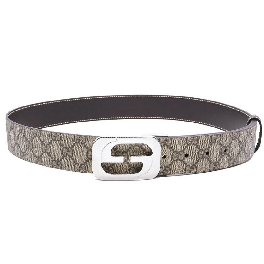 Gucci Interlocking G Belt GG Supreme Beige/Ebony
