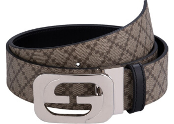858173251d1 Gucci Interlocking G Belt Geometric Beige/Brown