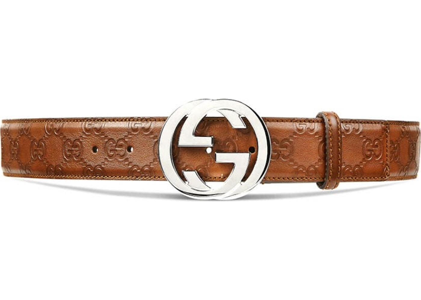 e40560ebc55 Gucci Interlocking G Belt Guccissima Brown