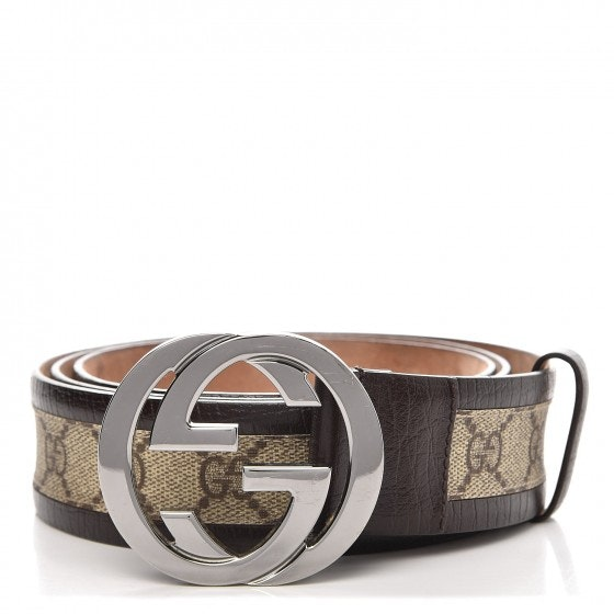 Gucci Interlocking G Belt Monogram GG Dark Brown