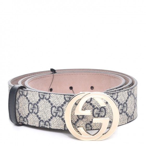Gucci Interlocking G Belt Monogram GG Supreme Navy Blue