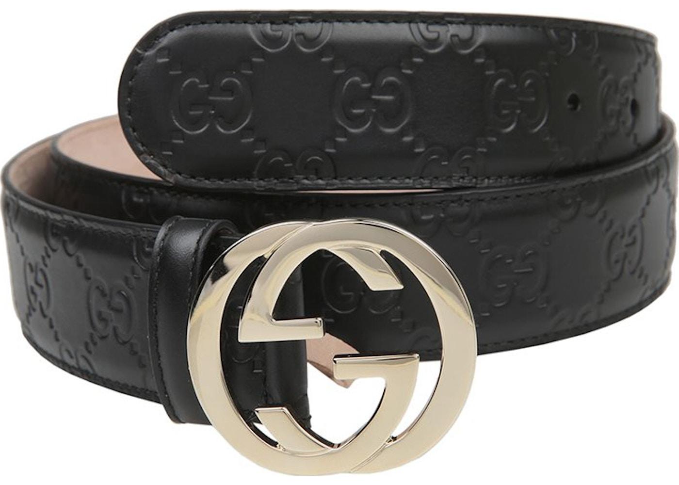 f427d45c8 Gucci Interlocking G Belt Monogram Guccissima Black. Monogram Guccissima  Black