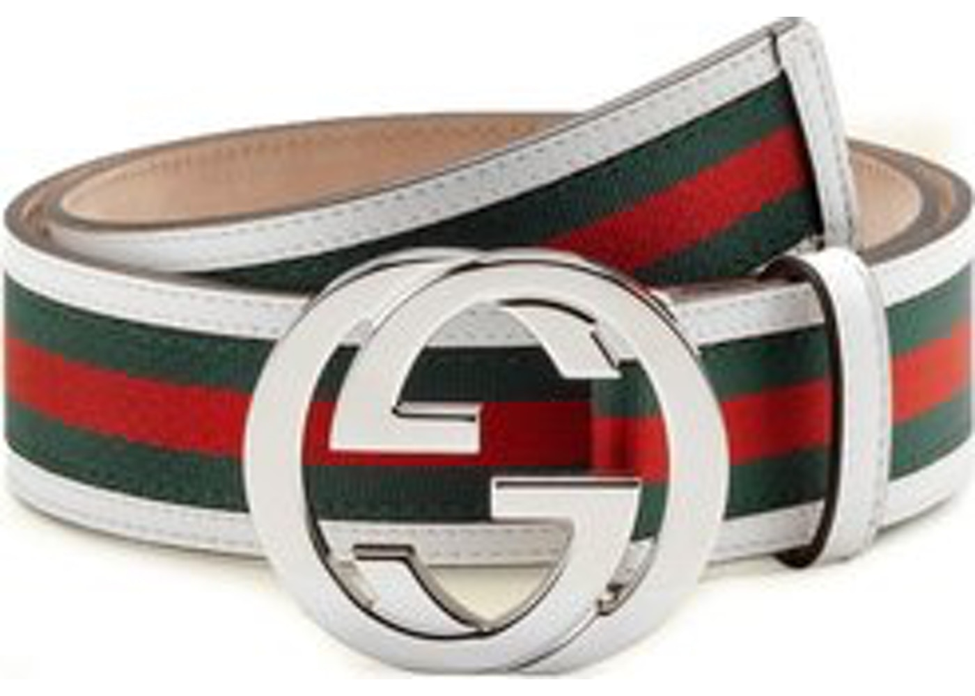 dcf24b87f Gucci Interlocking G Belt Stripes White/Green/Red